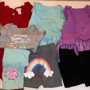 Cat and jack baby girl bundle size 3-6 months